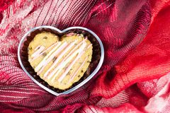 Cookie in heart shape Royalty Free Stock Image