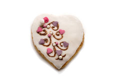 Cookie with a heart shape Royalty Free Stock Photos
