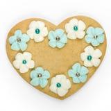 cookie heart shaped στοκ φωτογραφίες