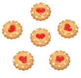 Cookie with heart shaped center Royalty Free Stock Images