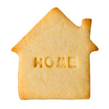 Cookie with HOME sign Royalty Free Stock Photo