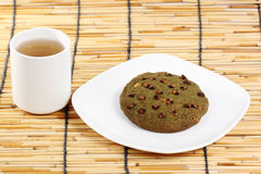 Cookie and hot tea Royalty Free Stock Photo