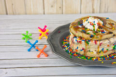 Cookie ice cream sandwich with jacks Stock Image