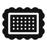 Cookie icon, simple style Stock Photography