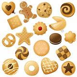 Cookie icons Stock Images