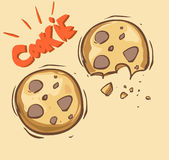 Cookie illustrations Royalty Free Stock Photography