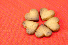 Cookie In The Form Of Heart Royalty Free Stock Photography
