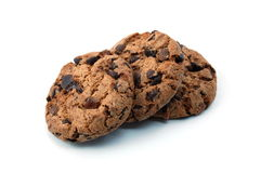 Cookie isolated on white background Stock Photos