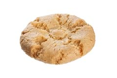 Yellow crunchy cookie royalty free stock image