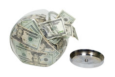 Cookie Jar Full of Money Royalty Free Stock Photo