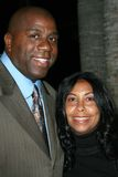 Cookie Johnson, Magic Johnson,  Stock Images