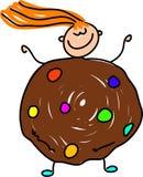 Cookie kid royalty free illustration