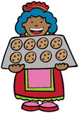 Cookie Lady vector illustration