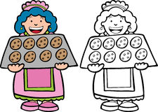 Cookie Lady Royalty Free Stock Photo