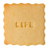 Cookie with LIFE sign Royalty Free Stock Image