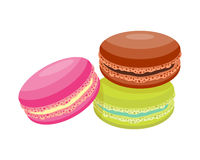 Cookie macaroon homemade breakfast bake cakes isolated and tasty snack biscuit pastry delicious sweet dessert bakery. Eating vector illustration. Gourmet Royalty Free Stock Photos