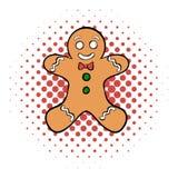 Cookie man comics icon Royalty Free Stock Image
