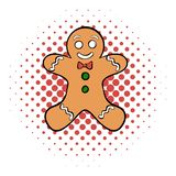 Cookie man comics icon. On the white background stock illustration