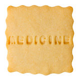 Cookie with MEDICINE sign Royalty Free Stock Image