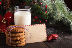 Cookie with milk Royalty Free Stock Images
