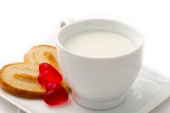 Cookie and milk Royalty Free Stock Photo
