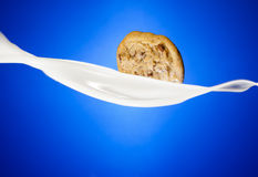 Cookie and Milk Royalty Free Stock Photos