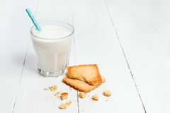 Cookie with milk Royalty Free Stock Photography