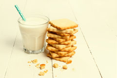 Cookie with milk Stock Photography
