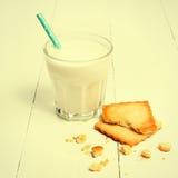 Cookie with milk Stock Photo