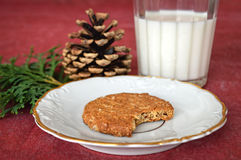 Cookie and milk for Santa Claus Stock Photos