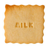 Cookie with MILK sign Stock Photos