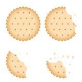 Cookie mordida do biscoito da microplaqueta, grupo do vetor do biscoito ilustração do vetor
