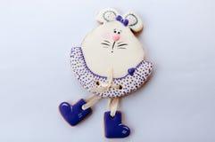 Cookie na forma dos ratos no fundo branco Imagem de Stock