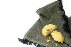 Cookie on napkin Royalty Free Stock Photos
