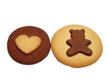 cookie niedźwiedzi miłości Obraz Royalty Free
