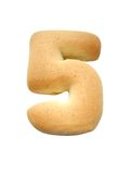 Cookie number. 5 with white background Royalty Free Stock Images