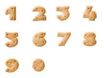 Cookie numbers stock image