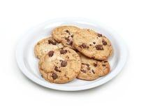 cookie odizolowane płytki Fotografia Stock