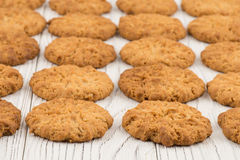 Cookie on old white wooden table. Stock Image