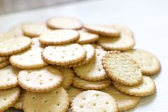 Cookie pattern. culinary background, fresh pastry. Confectionery Royalty Free Stock Photography