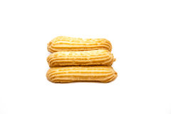 Cookie with pattern. On white background Stock Photography