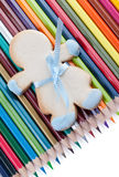 Cookie and pencils Stock Images