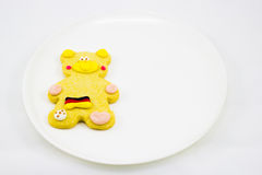 Cookie. This photo are cookie bear have Germany flag on body Royalty Free Stock Images
