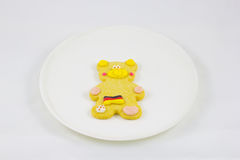 Cookie. This photo are cookie bear have Germany flag on body Royalty Free Stock Photo