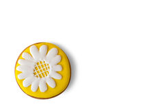 Cookie with picture of flower. Stock Photography