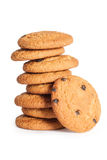 Cookie. Pile of cookies on a white background stock image