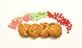 Cookie and pills Royalty Free Stock Photo