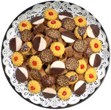 Cookie platter. Assorted cookie platter for party Royalty Free Stock Photos