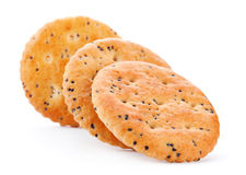 Cookie with poppy seed stock photography