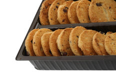 Cookie rows Royalty Free Stock Images